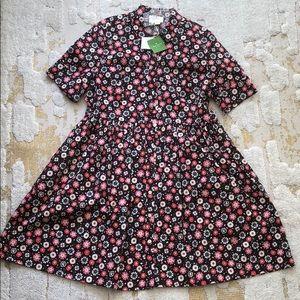 Kate Spade shirt dress in floral pattern, size 12